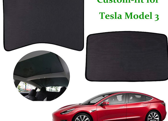 Tesla Model 3 High Quality Glass Roof Sunshade Sun Visor Front And Rear