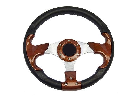 Universal PU Wood Style Steering Wheel 320mm Off Road / Marine / Golf Cart 8904