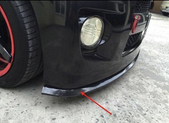 "CARBON FIBER LOOK FRONT BUMPER LIP SKIRT 2.5""x98"" PVC PREMIUM QUALITY"