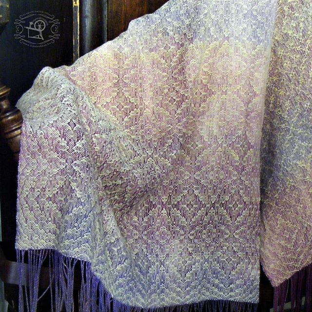 Right from the loom_ silk-cashmere shawl designed and made by me
