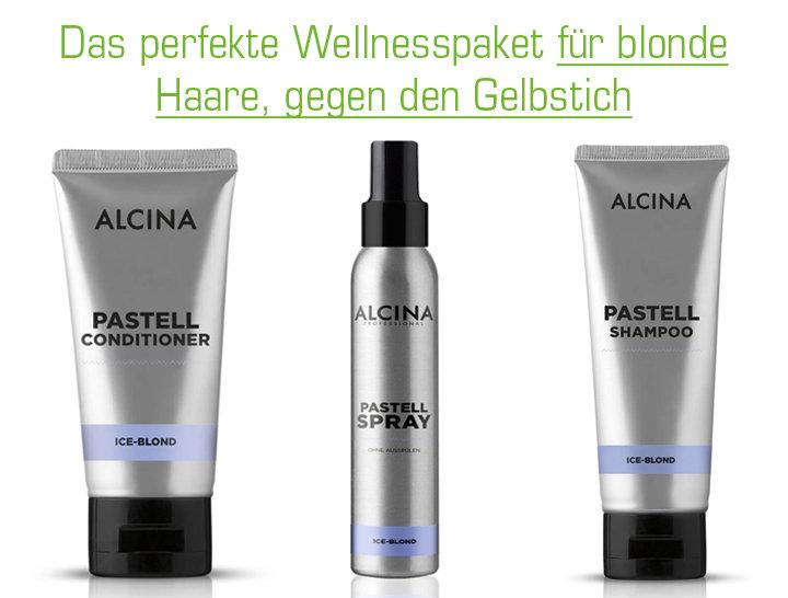 Wellnesspaket für blonde Haare, gegen den Gelbstich