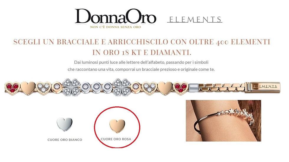 DonnaOro - Cuore oro rosa