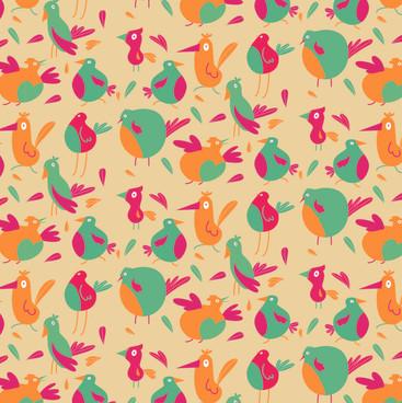 Seamless Pattern - Birds