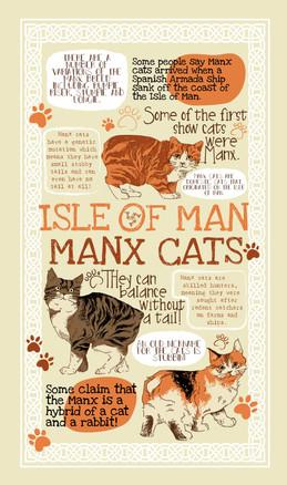 Isle of Man Manx Cat Tea Towel Design