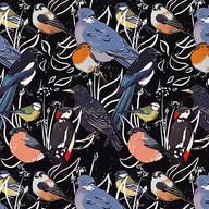 British garden birds pattern. Should pro