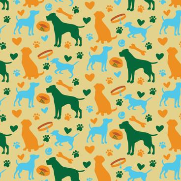 Seamless Pattern - Dogs
