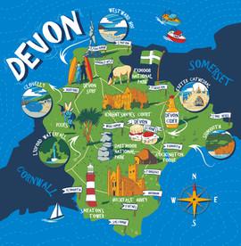 Devon Map for Giftware Range
