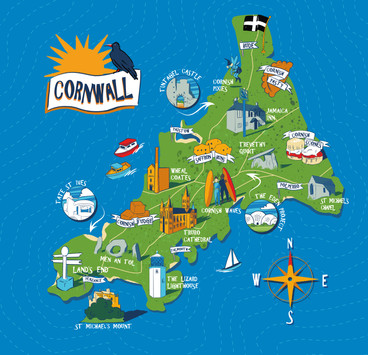 Cornwall Map for Giftware Range