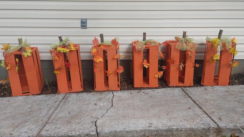 Pumpkin Corn Crates