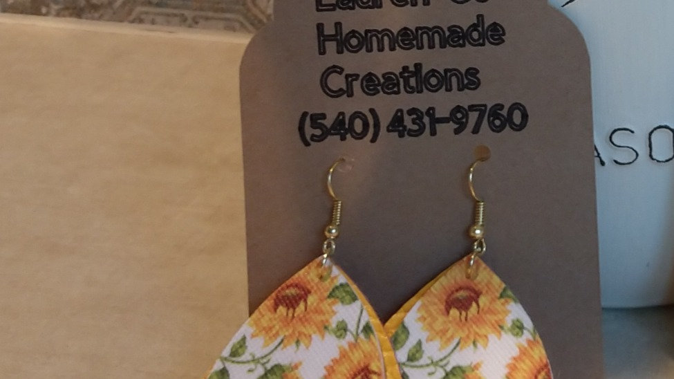 Two Tiered Yellow Sunflower Earrings