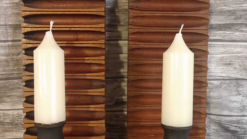 Antique Cigar Molds Candle Wall Sconces