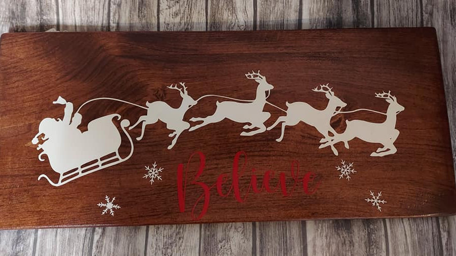 Believe With Santa Sign