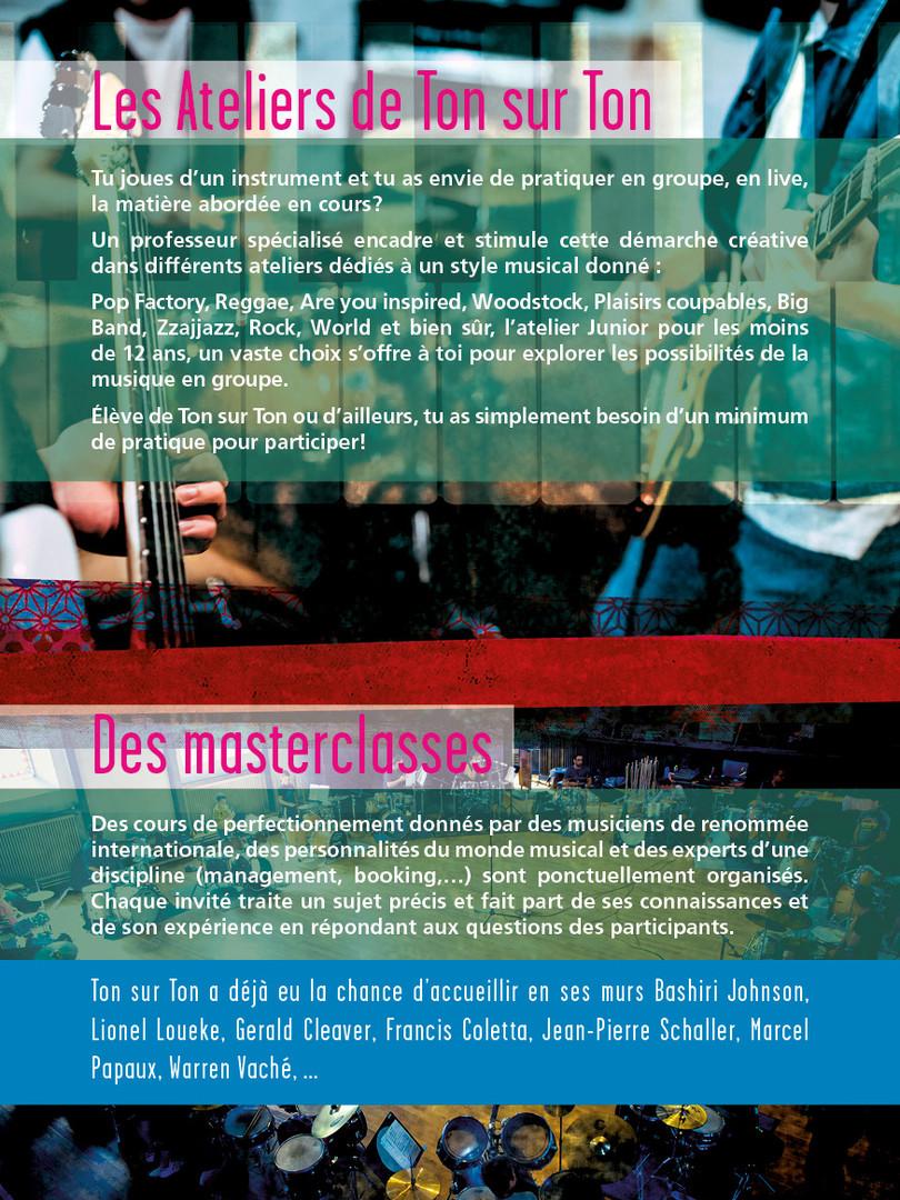 Les ateliers et les masterclasses