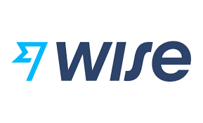 Wise (formally transferwise)'s new logo: a light blue flag and 'Wise' in dark blue next to it