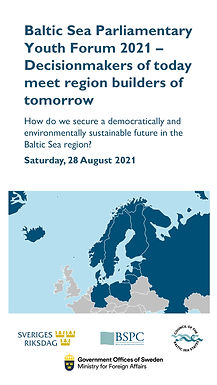Sign up for the Baltic Sea Parliamentary Youth Forum 2021