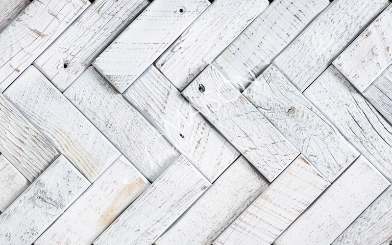 Herringbone - White