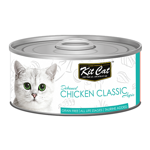 Kit Cat Deboned Chicken Classic Aspic Canned Cat Food 80g