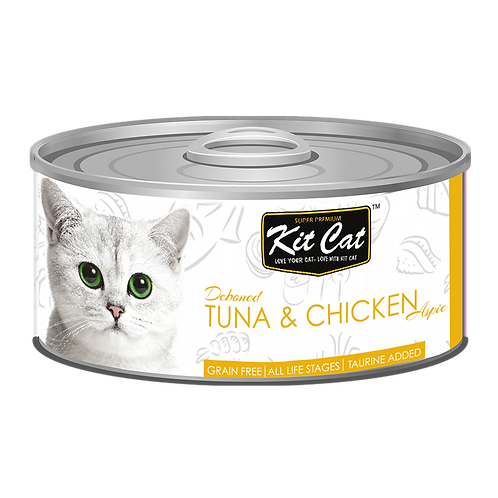 Kit Cat Deboned Tuna & Chicken Toppers Canned Cat Food 80g