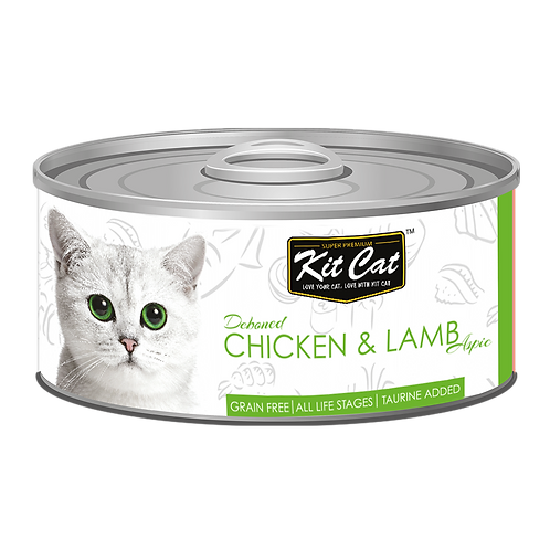 Kit Cat Deboned Chicken & Lamb Toppers Canned Cat Food 80g