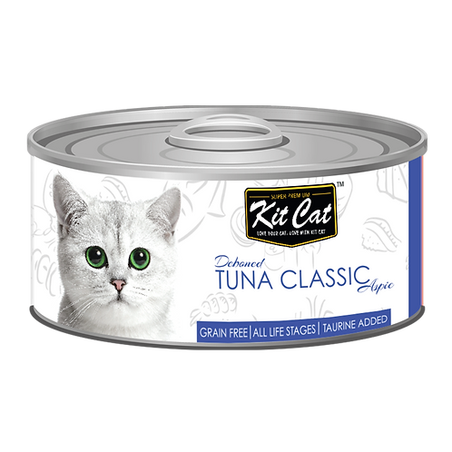 Kit Cat Deboned Tuna Classic Aspic Canned Cat Food 80g