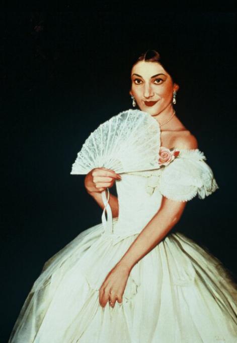 """Portrait of Maria Callas"""