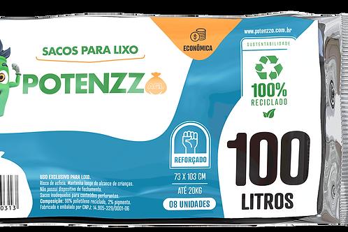 SACO DE LIXO 100 LITROS - LINHA ECONÔMICA - PCT C/ 08 UN