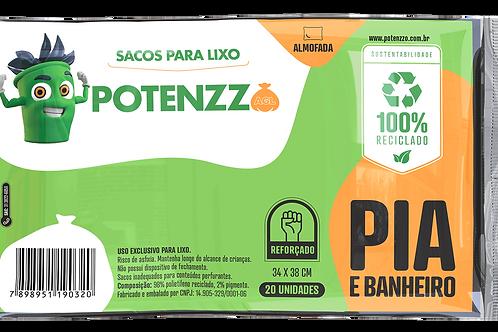 SACO DE LIXO - LINHA PIA E BANHEIRO - - PCT C/ 20 UN