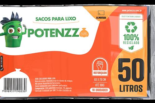 SACO DE LIXO 50 LITROS - LINHA ALMOFADA - PCT C/ 10 UN