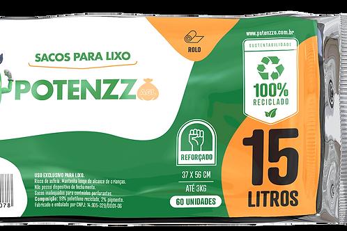 SACO DE LIXO 15 LITROS - LINHA ROLO - PCT C/ 60 UN