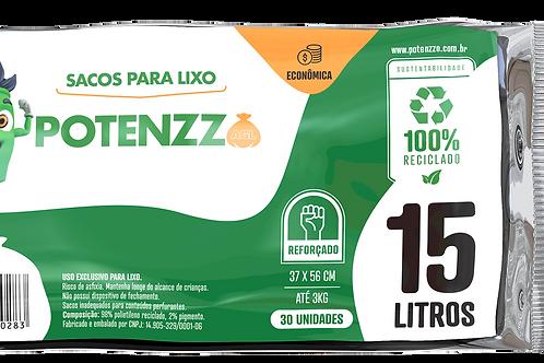 SACO DE LIXO 15 LITROS - LINHA ECONÔMICA - PCT C/ 30 UN