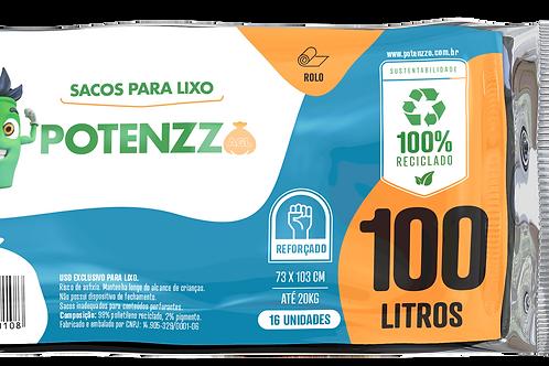 SACO DE LIXO 100 LITROS - LINHA ROLO - PCT C/ 16 UN