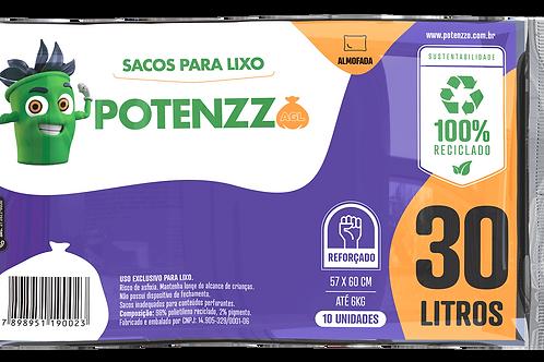 SACO DE LIXO 30 LITROS - LINHA ALMOFADA - PCT C/ 10 UN