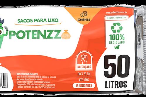 SACO DE LIXO 50 LITROS - LINHA ECONÔMICA - PCT C/ 15 UN