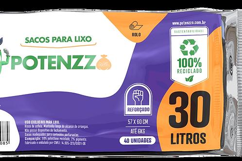 SACO DE LIXO 30 LITROS - LINHA ROLO - PCT C/ 40 UN
