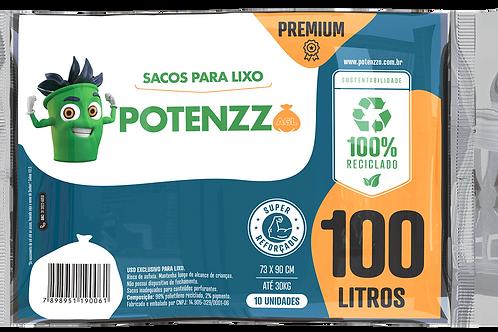 SACO DE LIXO - LINHA PREMIUM - 100 LITROS - - PCT C/ 10 UN