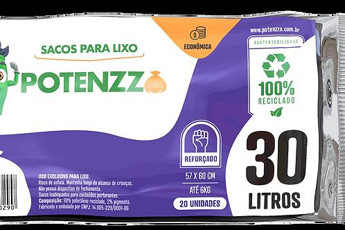 SACO DE LIXO 30 LITROS - LINHA ECONÔMICA - PCT C/ 20 UN