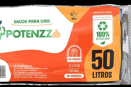 SACO DE LIXO 50 LITROS - LINHA ROLO - PCT C/ 30 UN