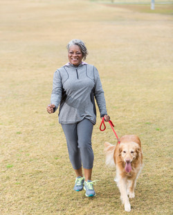 Active African American Woman dog cropped -2