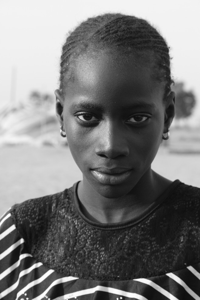 Portrait of a Senegalese girl