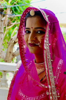 Portrait of a Rajasthani bride