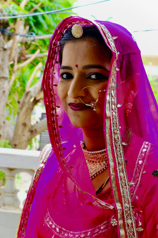 Portrait of a Rajasthani bride