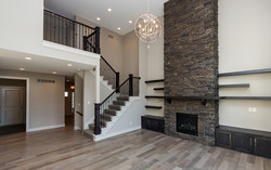 Great Room with Floor to Ceiling FP