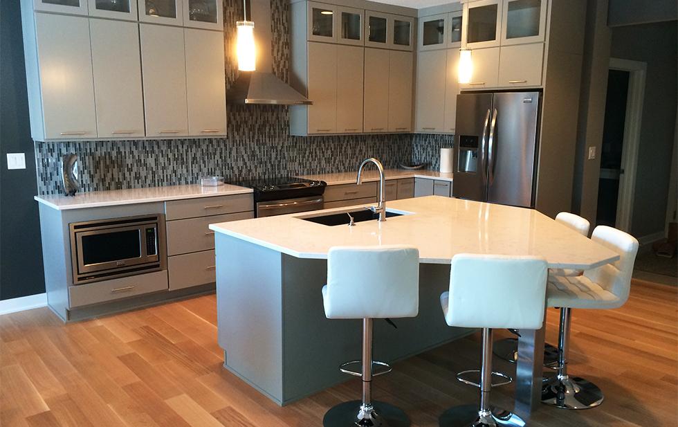 Modern Kitchen with Big Island