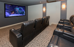 Home Movie Theater by Custom Builder