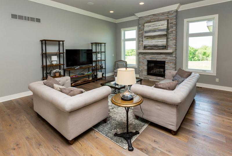 Home Builder Furnished Living Room