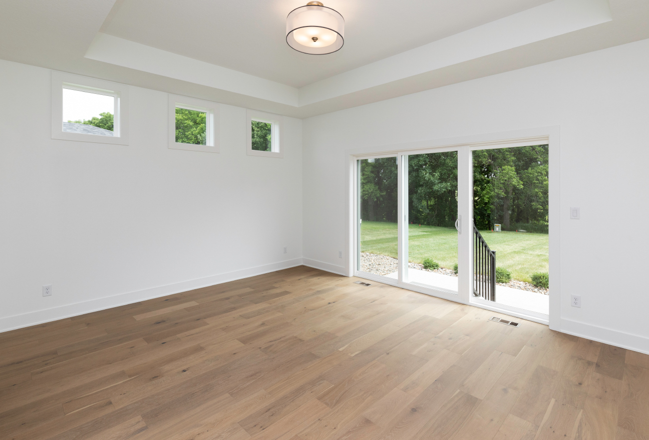 Master Bedroom with Door to Backyard