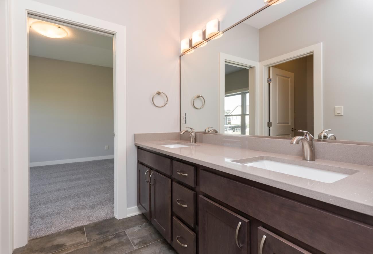 Gray Quartz Top Bathroom