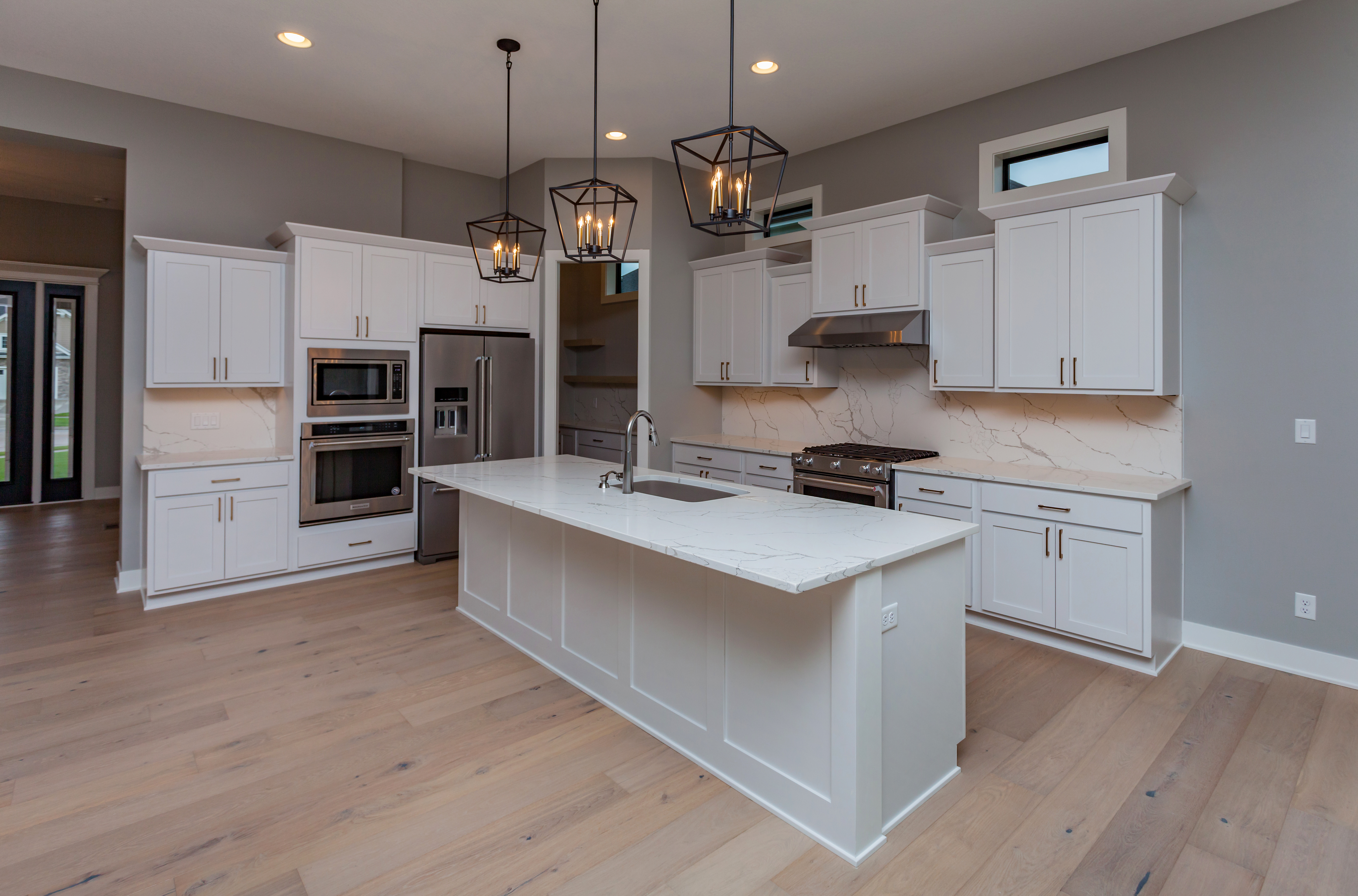 White Kitchen with Butler Pantry
