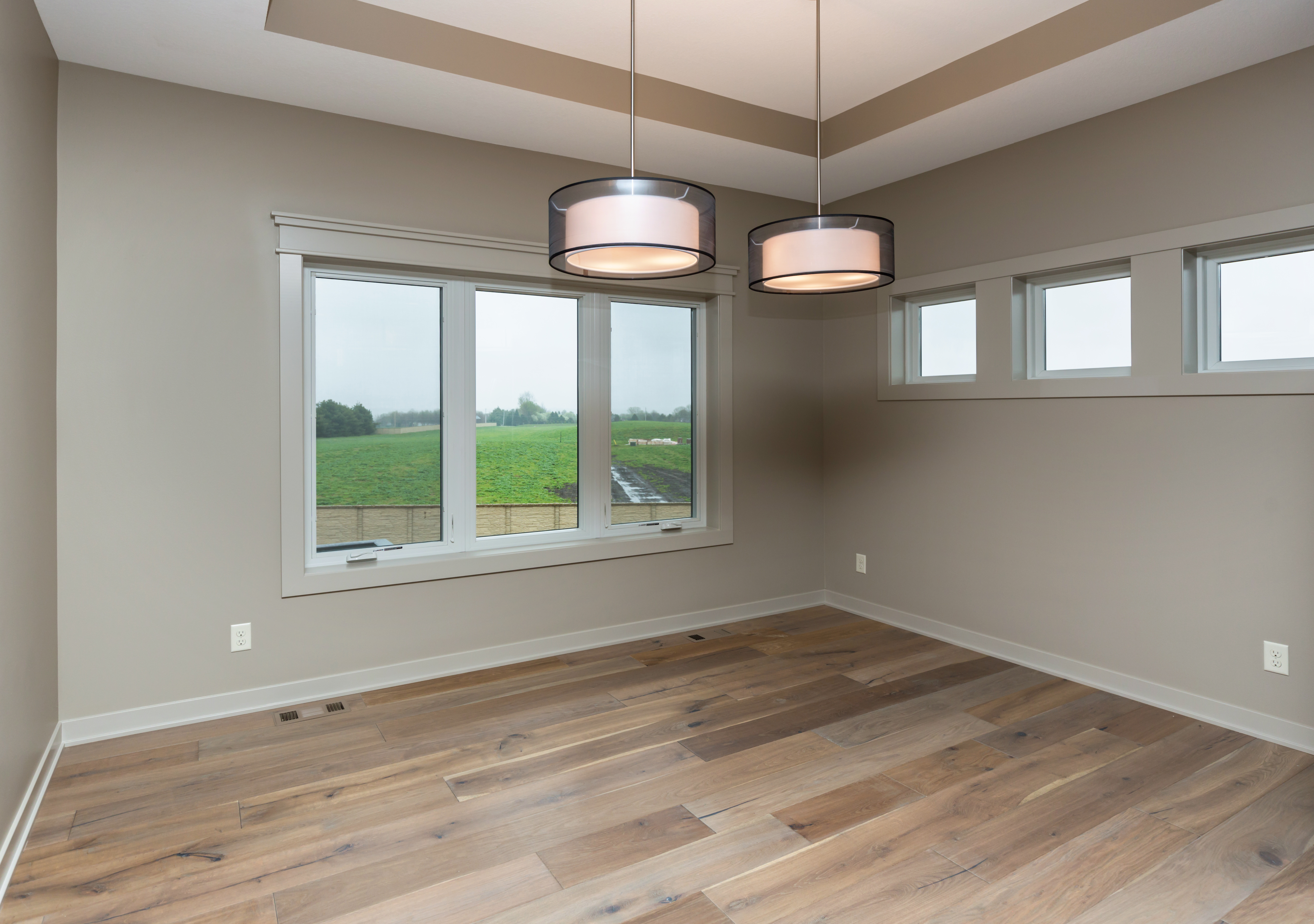 Dining Room with Transom Windows