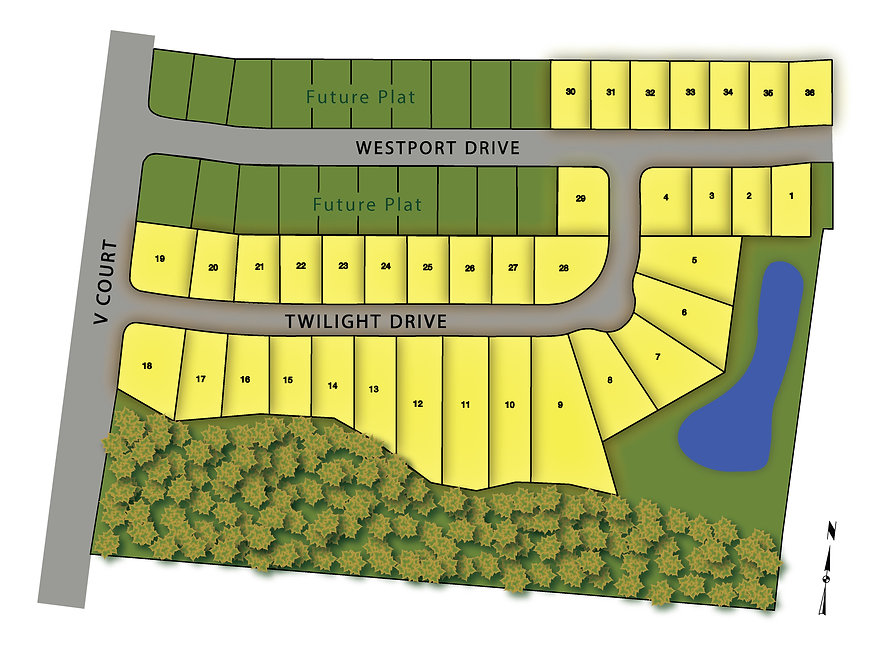 Westport Plat 2 Map - West Des Moines Lo